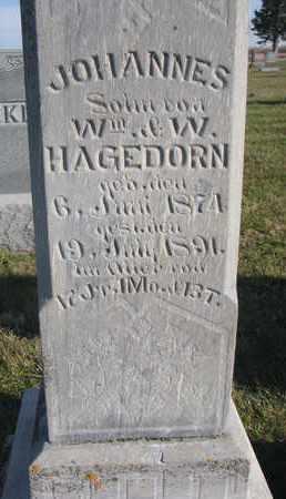 HAGEDORN, JOHANNES (CLOSEUP) - Cuming County, Nebraska | JOHANNES (CLOSEUP) HAGEDORN - Nebraska Gravestone Photos