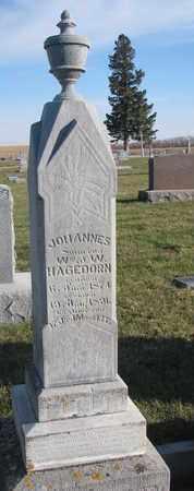 HAGEDORN, JOHANNES - Cuming County, Nebraska   JOHANNES HAGEDORN - Nebraska Gravestone Photos