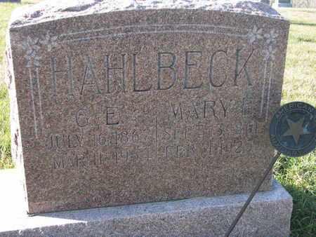 HAHLBECK, MARY E. - Cuming County, Nebraska | MARY E. HAHLBECK - Nebraska Gravestone Photos