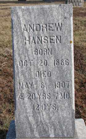 HANSEN, ANDREW - Cuming County, Nebraska | ANDREW HANSEN - Nebraska Gravestone Photos