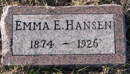 HANSEN, EMMA E. - Cuming County, Nebraska | EMMA E. HANSEN - Nebraska Gravestone Photos