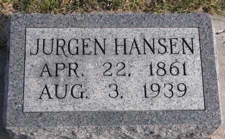 HANSEN, JURGEN - Cuming County, Nebraska | JURGEN HANSEN - Nebraska Gravestone Photos
