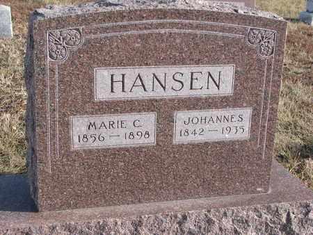 HANSEN, JOHANNES - Cuming County, Nebraska | JOHANNES HANSEN - Nebraska Gravestone Photos