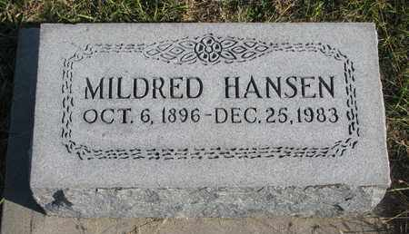 HANSEN, MILDRED - Cuming County, Nebraska | MILDRED HANSEN - Nebraska Gravestone Photos