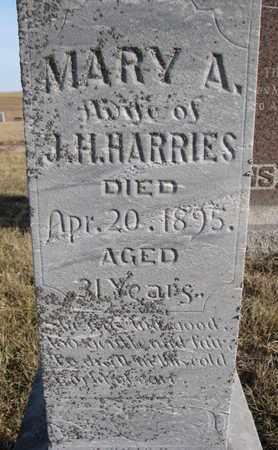 HARRIES, MARY A. (CLOSEUP) - Cuming County, Nebraska | MARY A. (CLOSEUP) HARRIES - Nebraska Gravestone Photos