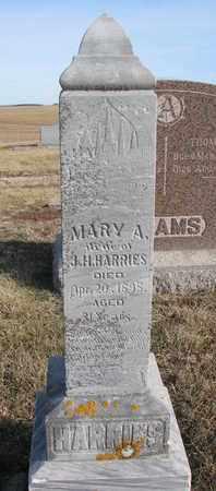 HARRIES, MARY A. - Cuming County, Nebraska | MARY A. HARRIES - Nebraska Gravestone Photos