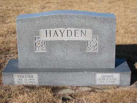 HAYDEN, CHESTER - Cuming County, Nebraska   CHESTER HAYDEN - Nebraska Gravestone Photos