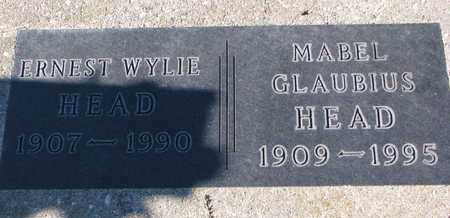 GLAUBIUS HEAD, MABEL - Cuming County, Nebraska   MABEL GLAUBIUS HEAD - Nebraska Gravestone Photos