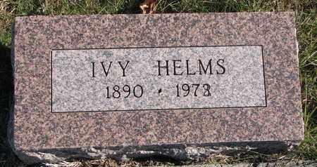 HELMS, IVY - Cuming County, Nebraska | IVY HELMS - Nebraska Gravestone Photos