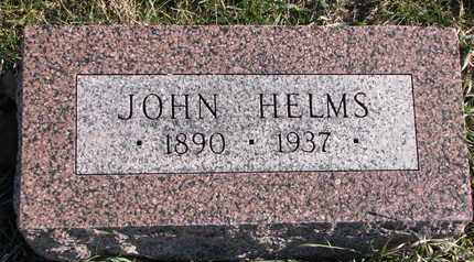 HELMS, JOHN - Cuming County, Nebraska | JOHN HELMS - Nebraska Gravestone Photos