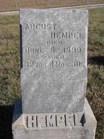 HEMPEL, AUGUST - Cuming County, Nebraska   AUGUST HEMPEL - Nebraska Gravestone Photos