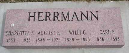 HERRMANN, CHARLOTTE F. - Cuming County, Nebraska | CHARLOTTE F. HERRMANN - Nebraska Gravestone Photos