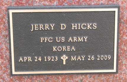 HICKS, JERRY DAVID (MILITARY) - Cuming County, Nebraska   JERRY DAVID (MILITARY) HICKS - Nebraska Gravestone Photos