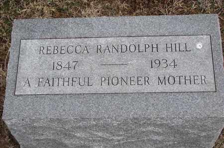 HILL, REBECCA - Cuming County, Nebraska   REBECCA HILL - Nebraska Gravestone Photos