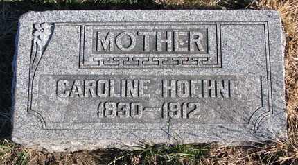 HOEHNE, CAROLINE - Cuming County, Nebraska | CAROLINE HOEHNE - Nebraska Gravestone Photos