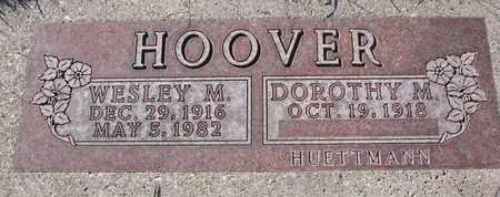 HOOVER, WESLEY M. - Cuming County, Nebraska   WESLEY M. HOOVER - Nebraska Gravestone Photos