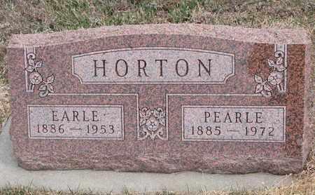 HORTON, EARLE - Cuming County, Nebraska   EARLE HORTON - Nebraska Gravestone Photos