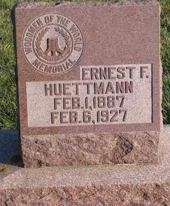 HUETTMANN, ERNEST F. - Cuming County, Nebraska | ERNEST F. HUETTMANN - Nebraska Gravestone Photos