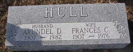 HULL, ARUNDEL D. - Cuming County, Nebraska | ARUNDEL D. HULL - Nebraska Gravestone Photos