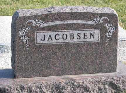 JACOBSEN, (FAMILY MONUMENT) - Cuming County, Nebraska | (FAMILY MONUMENT) JACOBSEN - Nebraska Gravestone Photos