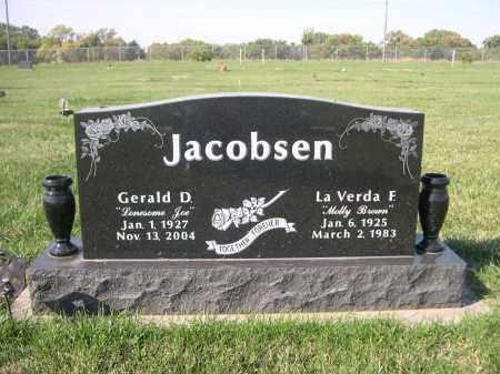 "JACOBSEN, GERALD D ""LONESOME JOE"" - Cuming County, Nebraska | GERALD D ""LONESOME JOE"" JACOBSEN - Nebraska Gravestone Photos"