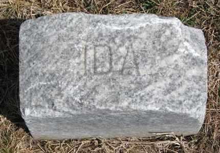 JACOBSEN, IDA (FOOTSTONE) - Cuming County, Nebraska | IDA (FOOTSTONE) JACOBSEN - Nebraska Gravestone Photos