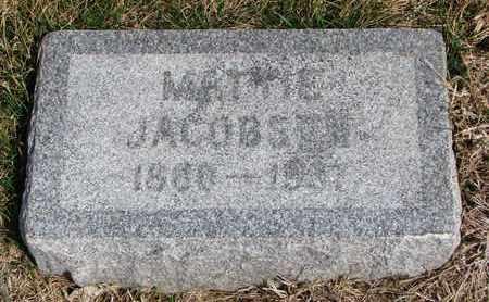JACOBSEN, MATTIE - Cuming County, Nebraska   MATTIE JACOBSEN - Nebraska Gravestone Photos