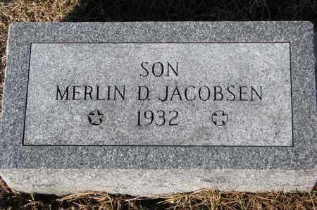 JACOBSEN, MERLIN D. - Cuming County, Nebraska | MERLIN D. JACOBSEN - Nebraska Gravestone Photos