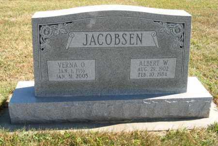 JACOBSEN, ALBERT W. - Cuming County, Nebraska | ALBERT W. JACOBSEN - Nebraska Gravestone Photos