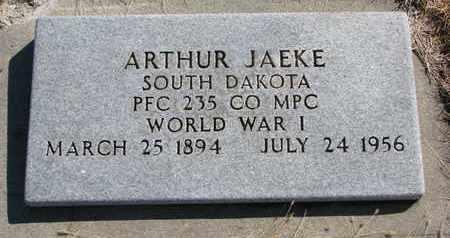 JAEKE, ARTHUR - Cuming County, Nebraska | ARTHUR JAEKE - Nebraska Gravestone Photos