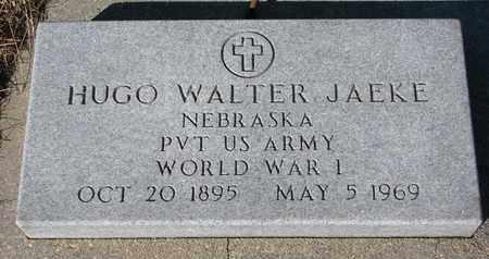 JAEKE, HUGO WALTER - Cuming County, Nebraska | HUGO WALTER JAEKE - Nebraska Gravestone Photos