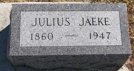 JAEKE, JULIUS - Cuming County, Nebraska | JULIUS JAEKE - Nebraska Gravestone Photos