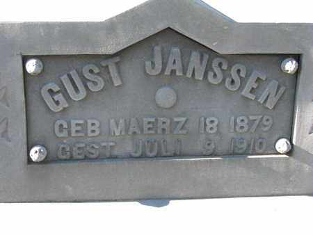JANSSEN, GUST (CLOSEUP) - Cuming County, Nebraska | GUST (CLOSEUP) JANSSEN - Nebraska Gravestone Photos