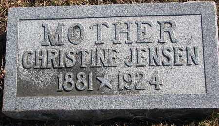 JENSEN, CHRISTINE - Cuming County, Nebraska | CHRISTINE JENSEN - Nebraska Gravestone Photos