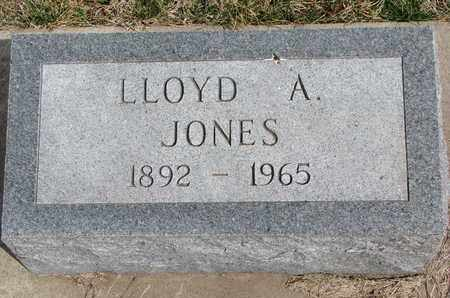 JONES, LLOYD A. - Cuming County, Nebraska   LLOYD A. JONES - Nebraska Gravestone Photos