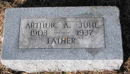 JUHL, ARTHUR A. - Cuming County, Nebraska   ARTHUR A. JUHL - Nebraska Gravestone Photos