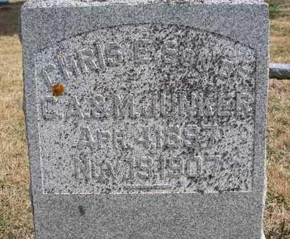JUNKER, CHRIS E. (CLOSEUP) - Cuming County, Nebraska   CHRIS E. (CLOSEUP) JUNKER - Nebraska Gravestone Photos