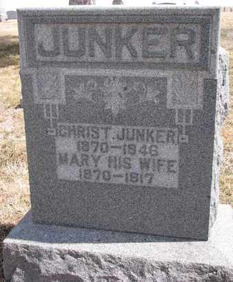 JUNKER, MARY - Cuming County, Nebraska | MARY JUNKER - Nebraska Gravestone Photos