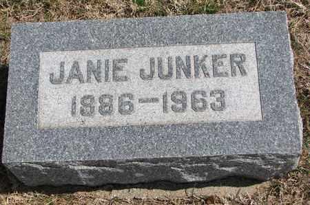 JUNKER, JANIE - Cuming County, Nebraska   JANIE JUNKER - Nebraska Gravestone Photos