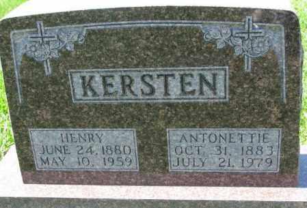 KERSTEN, ANTONETTIE - Cuming County, Nebraska   ANTONETTIE KERSTEN - Nebraska Gravestone Photos