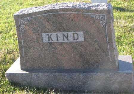 KIND, (FAMILY MONUMENT) - Cuming County, Nebraska | (FAMILY MONUMENT) KIND - Nebraska Gravestone Photos