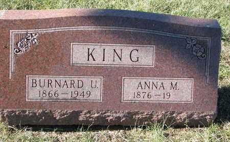 KING, BURNARD U. - Cuming County, Nebraska | BURNARD U. KING - Nebraska Gravestone Photos