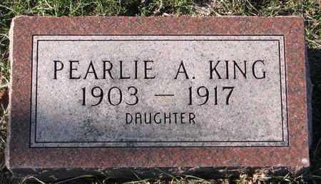KING, PEARLIE A. - Cuming County, Nebraska | PEARLIE A. KING - Nebraska Gravestone Photos