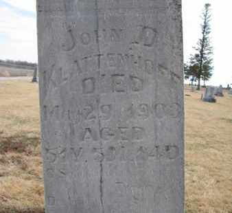 KLATTENHOFF, JOHN D. (CLOSEUP) - Cuming County, Nebraska   JOHN D. (CLOSEUP) KLATTENHOFF - Nebraska Gravestone Photos
