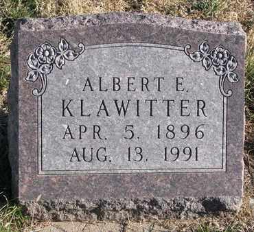 KLAWITTER, ALBERT E. - Cuming County, Nebraska | ALBERT E. KLAWITTER - Nebraska Gravestone Photos