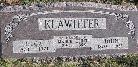 KLAWITTER, OLGA - Cuming County, Nebraska | OLGA KLAWITTER - Nebraska Gravestone Photos
