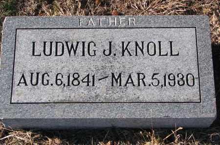 KNOLL, LUDWIG J. - Cuming County, Nebraska   LUDWIG J. KNOLL - Nebraska Gravestone Photos