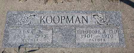KOOPMAN, EDNA E. - Cuming County, Nebraska | EDNA E. KOOPMAN - Nebraska Gravestone Photos