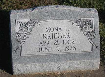 KRIEGER, MONA I. - Cuming County, Nebraska | MONA I. KRIEGER - Nebraska Gravestone Photos