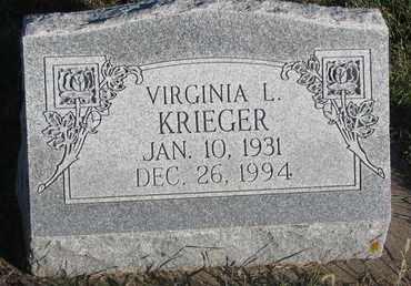 KRIEGER, VIRGINIA L. - Cuming County, Nebraska   VIRGINIA L. KRIEGER - Nebraska Gravestone Photos